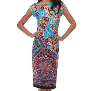 Beige by ECI Aqua Floral Cap Sleeve Midi Dress 6